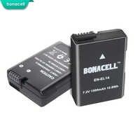 Bonacell 2 pièces pour Nikon EN-EL14 1500mAh Piles Rechargeables D3100 D3200 D3300 D5100 D5200 D5300 P7000 P7100 P7700 P7800 L50