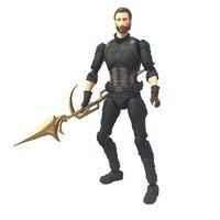 SHF Legends Marvel New iron man Captain America Infinite War Movable 16cm Pvc Avengers 3 Model Action Figures Movie Figma Doll