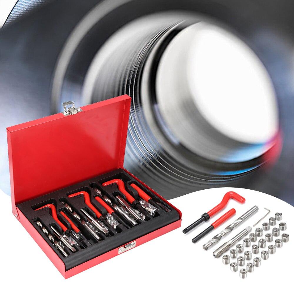 88 pièces M6 M8 M10 robinet 304 acier inoxydable fil outils de réparation divers véhicules tôle outils de réparation Kit
