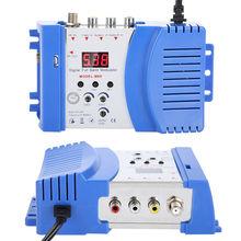 Converter Professional Digital VHF Uhf Rf Modulator AV To RF AUTO TV Converter Adapter original satlink ws 7990 4 route dvb t modulator av hdmi four router dm modulator dvb t av hd digital rf modulator