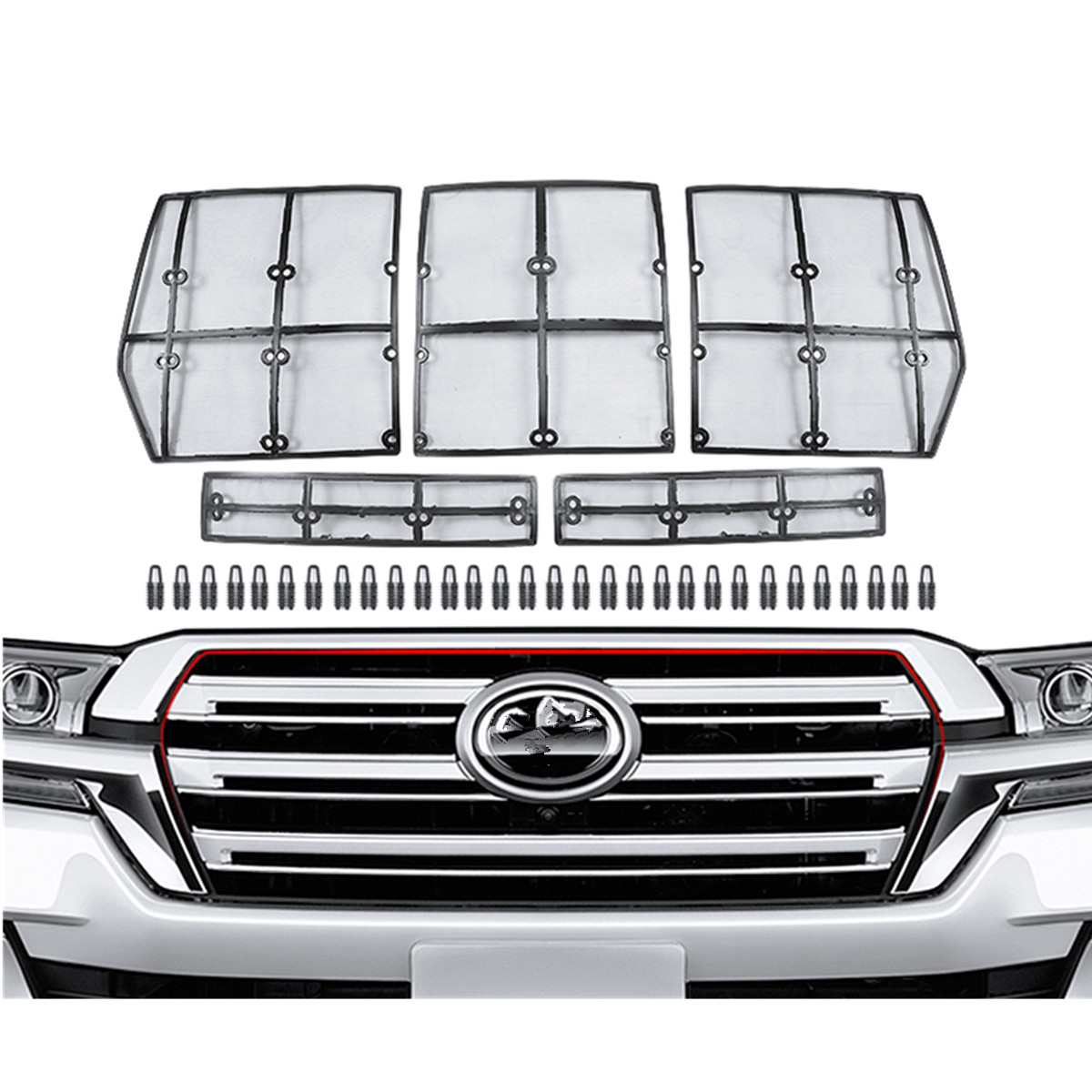 Car Front Grill Insect Net for Toyota Land Cruiser 200 LC200 Fj200 2008 2009 2010 2011