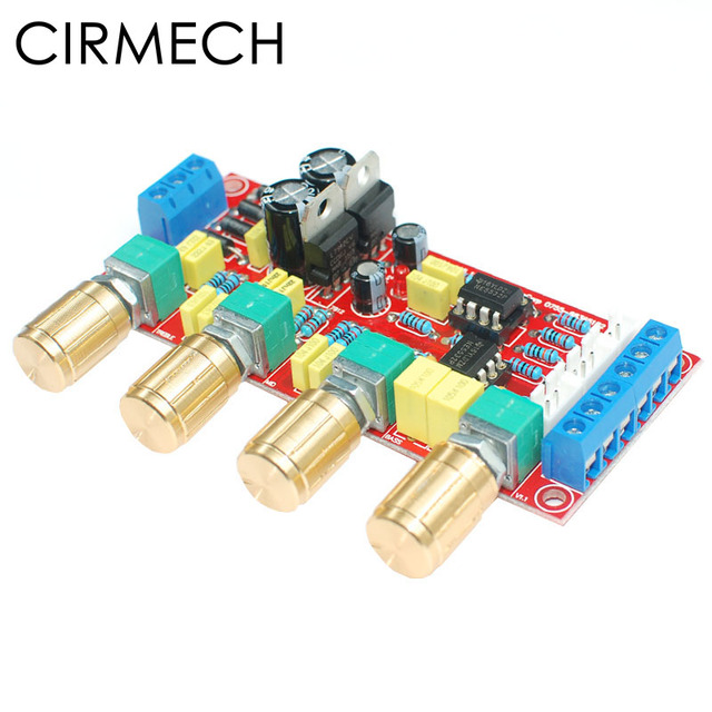 CIRMECH NE5532 OP AMP HIFI Amplifier Preamplifier Volume Tone EQ Control Board DIY KIT and finished product