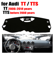 Car dashboard cover for Audi TT 2006 2014 / TTS before 2008 Left hand drive dashmat pad dash covers auto dashboard accessories
