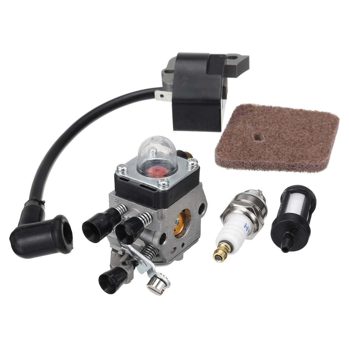 Ignition Coil Carburetor Carb Kit For STIHL FS38 FS45 FS46 FS55 KM55R FS45C FC55Ignition Coil Carburetor Carb Kit For STIHL FS38 FS45 FS46 FS55 KM55R FS45C FC55