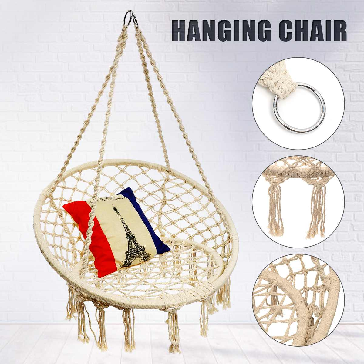 Round Hammock Furniture Swing Hanging Chair For Outdoor