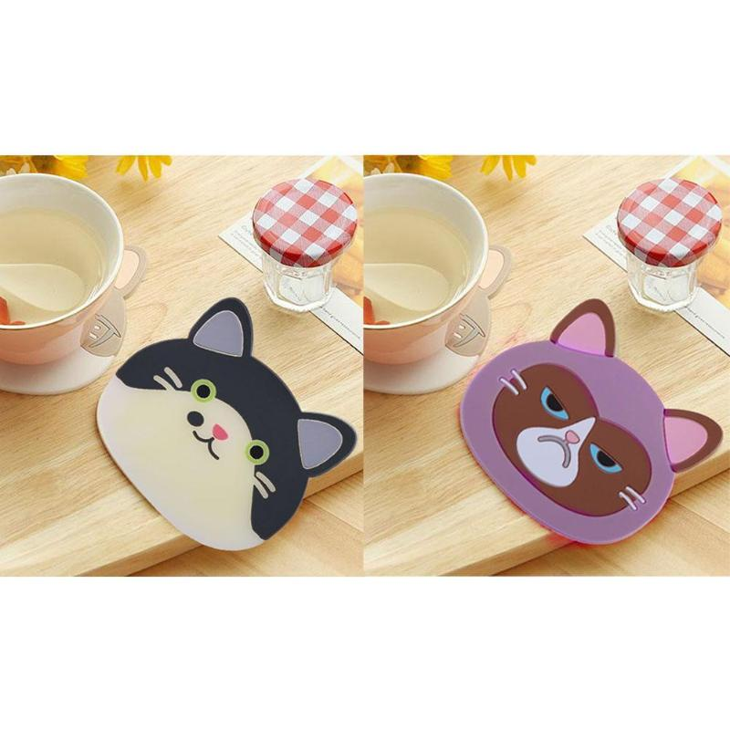 Silicone Cartoon Figure  Cup Cushion Holder Drink Placemat Mat Kid Gift H
