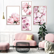 Peony Wall Art Pastel Pink Flowers Digital Prints Download Peonies Floral Rose Minimalist Fashion Instant Botanical