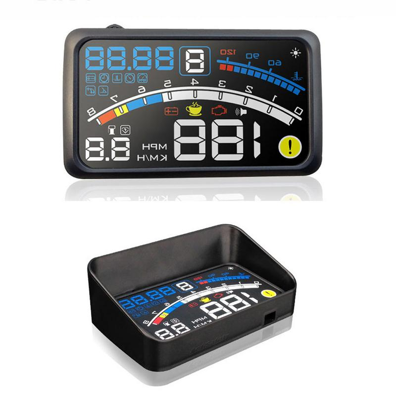 Car HUD Head Up Display Overspeed Warning System Projector W