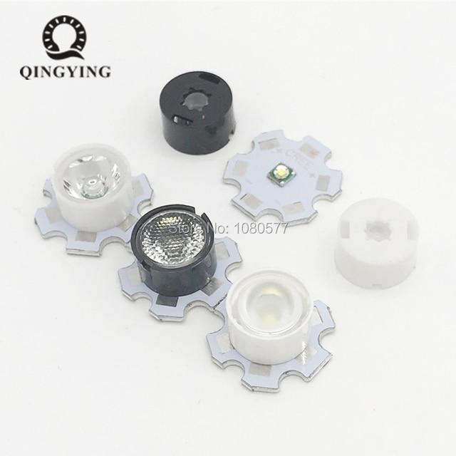 10pcs 13mm CREE LED Lens 10 30 45 60 90 Degree XPE XPE2 XPG XPG2 XTE Epiled/Semiled 3535 3030 Emitter Plano Reflector Collimator