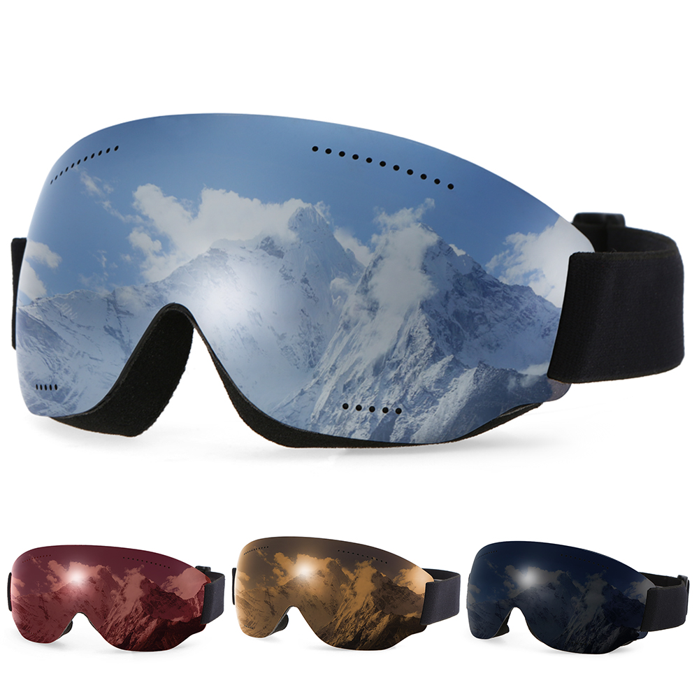 Discreet Anti-fogging Goggle Skiing Uv400 Protective Goggles Otg Climbing Skating Snow Sports Goggles For Men Women