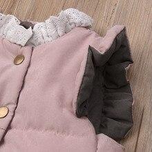 Pudcoco/ Новое Брендовое милое зимнее пальто для маленьких девочек, куртка, жилет без рукавов, верхняя одежда, От 0 до 4 лет