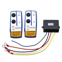Car Electronic 12V 50ft Winch Wireless Remote Set Automobile Winch Remot Control Switch Handset Kit For Jeep ATV SUV UTV electric winch wireless remote control system