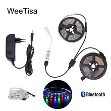 12V LED Strip Bluetooth RGB Waterproof SMD 2835 5M 10M Flexible Tira Tape Ribbon Stripe Light Fita DC TV Backlight