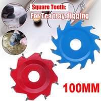 12 Teeth / 8 Teeth 100mm Carbon Steel Saw Blade For DIY Woodworking Angle Grinder Table Disc Circular Hexagonal Shovel Blade