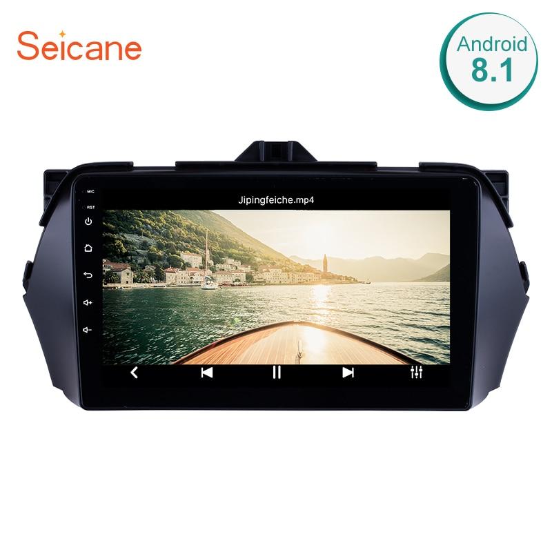 Seicane 9 Inch Android 8.1 HD touchscreen GPS Navigation System for 2016 Suzuki Alivio Bluetooth Radio Remote Control head unit