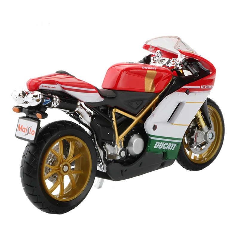 Maisto 1:18 Skala Sepeda Motor Model Mainan 1098S Olahraga Balap Mobil Sepeda Motor Koleksi Kreatif Mainan untuk Anak-anak Anak Laki-laki Hadiah