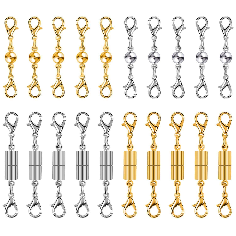 6f35bf644be0 20 piezas cierres magnéticos para joyería magnética collar extensor  hebillas y cierres para pulsera y suministros de fabricación de la joyería