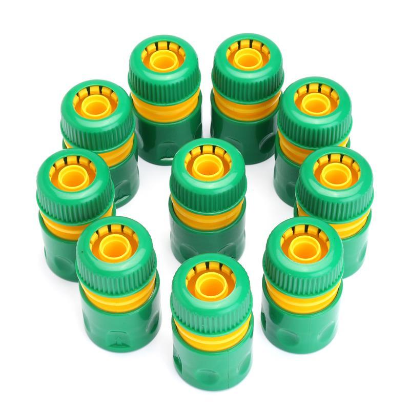 10Pcs 1/2 zoll Schlauch Garten Tippen Wasser Schlauch Rohr Stecker Quick Connect Adapter Fitting Bewässerung