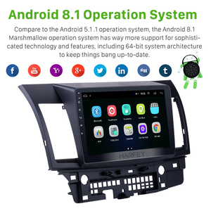Image 2 - Harfey Android 8.1 10.1 inch 2din HD Touchscreen GPS audio Stereo for Mitsubishi Lancer ex car multimedia player with Bluetooth