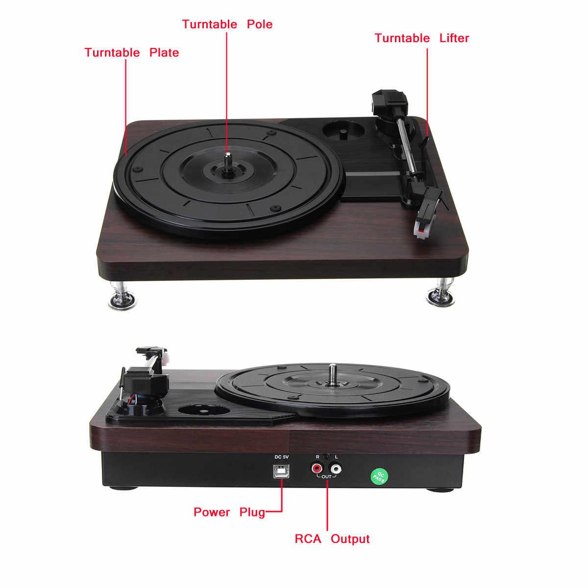 33 RPM プラスチック記録レトロプレーヤーポータブルオーディオ蓄音機ターンテーブルディスクビニールオーディオ RCA R/L 3.5 ミリメートル出力アウト USB DC 5 V