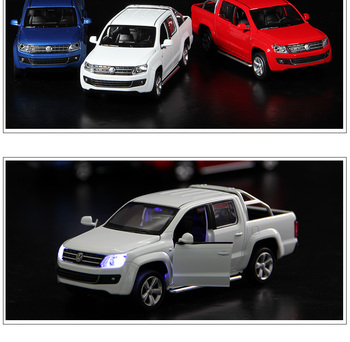 1:32 Scale Luxury Diecast Alloy Metal Car Model For TheVolks wagen Amarok PICKUP Collection Model Pull Back Truck Toys Vehicle