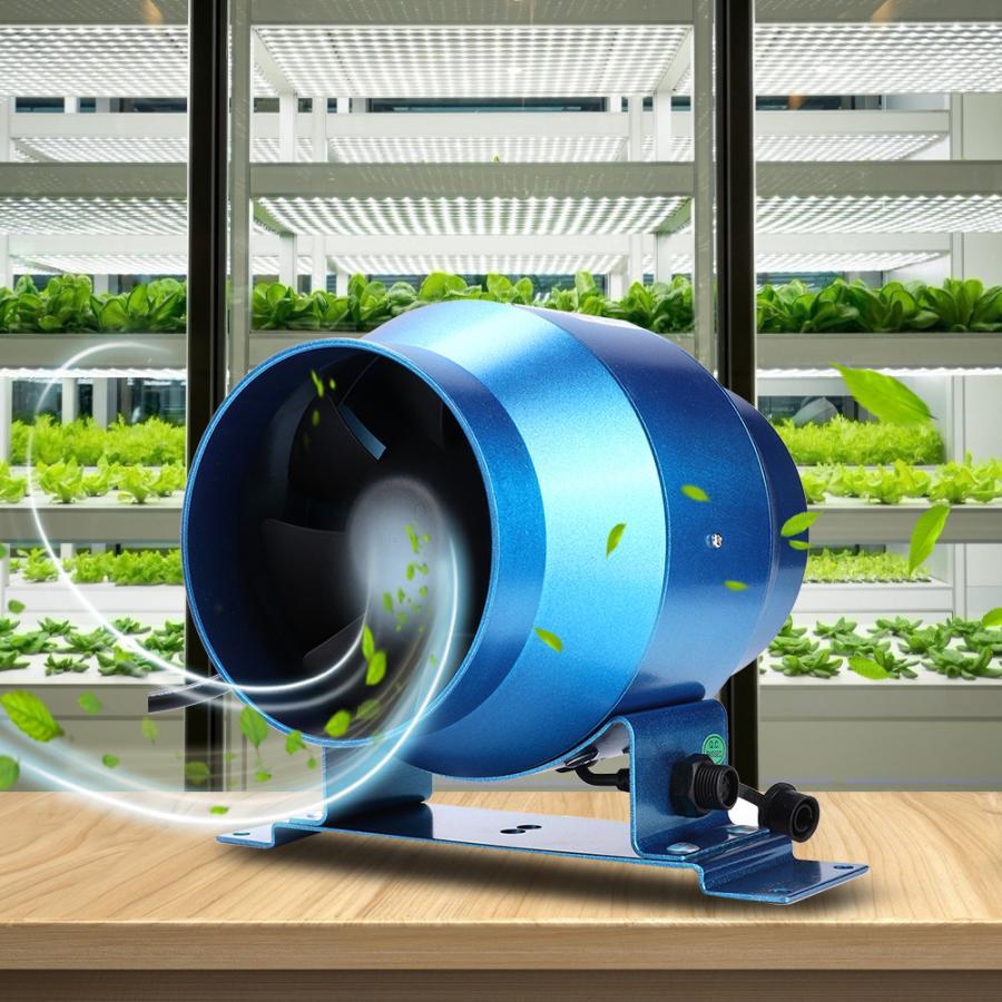 Adjustable Speed Control Mixed Flow Inline Fan Circular 4 inch Pipe High Speed Quiet Exhaust Ventilation