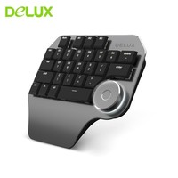 Delux T11 Designer Keyboard With Smart Dial 3 Group Customized Keys Mechanical Single Hand Mini Gaming Keypad For Gamer Computer
