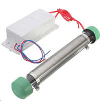 Generador de ozono de cerámica portátil 220V 55W 7,5g integrado placa de cerámica de larga vida purificador de agua del ozono