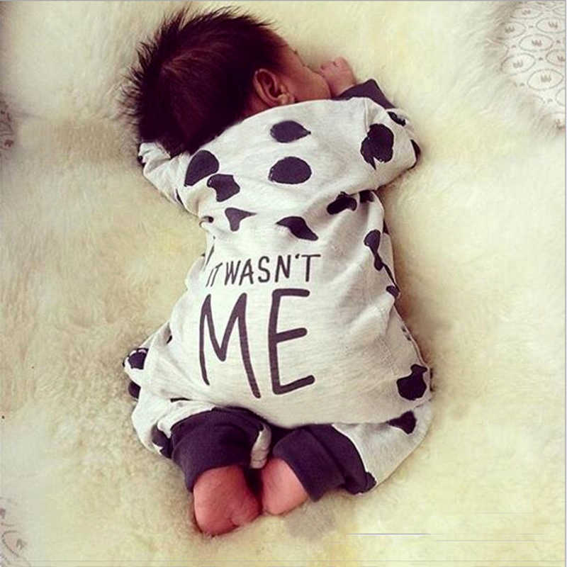 0-24M Newborn Baby Kids Boys Girls Clothing Long Sleeve Warm Polka Dot Romper Cotton Jumpsuit Elegant Cute Outfits child Clothes