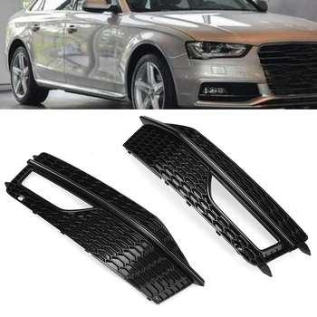 A4 B8 samochodów przednia Grille boczne z siatki przedni zderzak światła przeciwmgielne Grill kratka klosz do Audi A4 B8 2012-2015 S4 s-linii Facelift