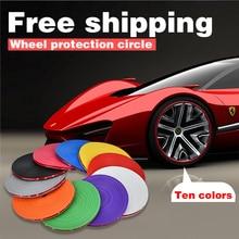 10 Цвета 8 M/Roll автомобилей для укладки протектор обода колеса декоративные полосы обода/защиты шин защитная линия резиновая отливка отделкой