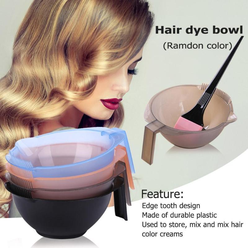 1pc Plastic Dye Bowl Hair Dyeing Palette Bowls Salon Dye Mixing Bowls Hairdressing Styling Tool
