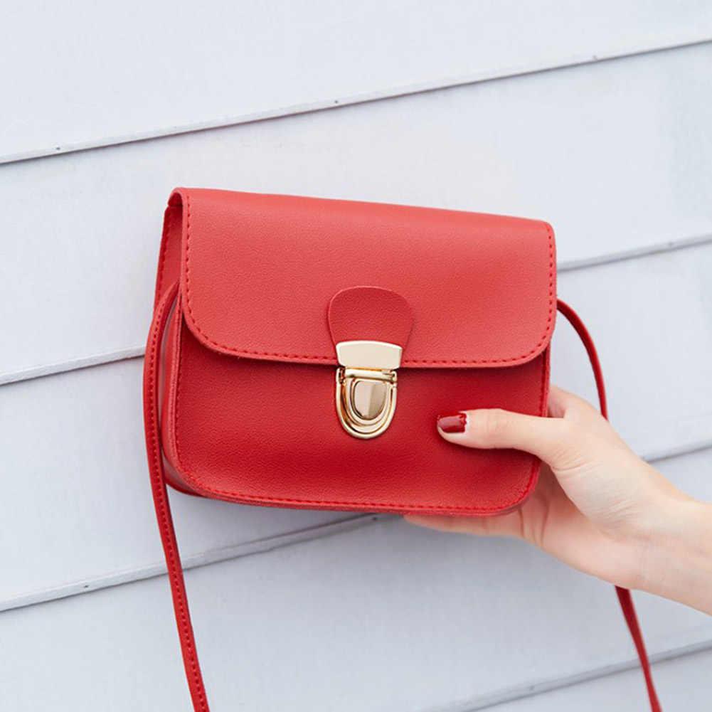 2019 nowy małe torebki skórzane kobiet czerwony różowy Crossbody torby zamek projekt panie Mini torby listonoszki Sac głównym