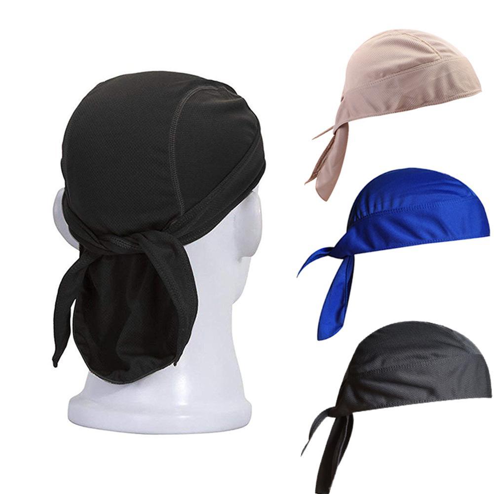 Mounchain Men Pure Quick-drying Cycling Head Cap Scarf Summer  Running In Bandana Cycling Hat Pirate Hood Headband Sun Protect