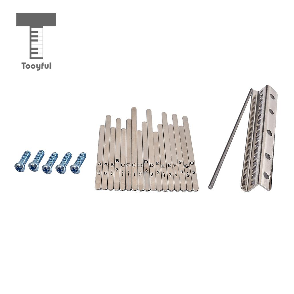 Tooyful Exquisite 1 Pack Stainless Steel Keys Kits Hardware For 17 Keys Thumb Piano Kalimba Replacement Parts DIY