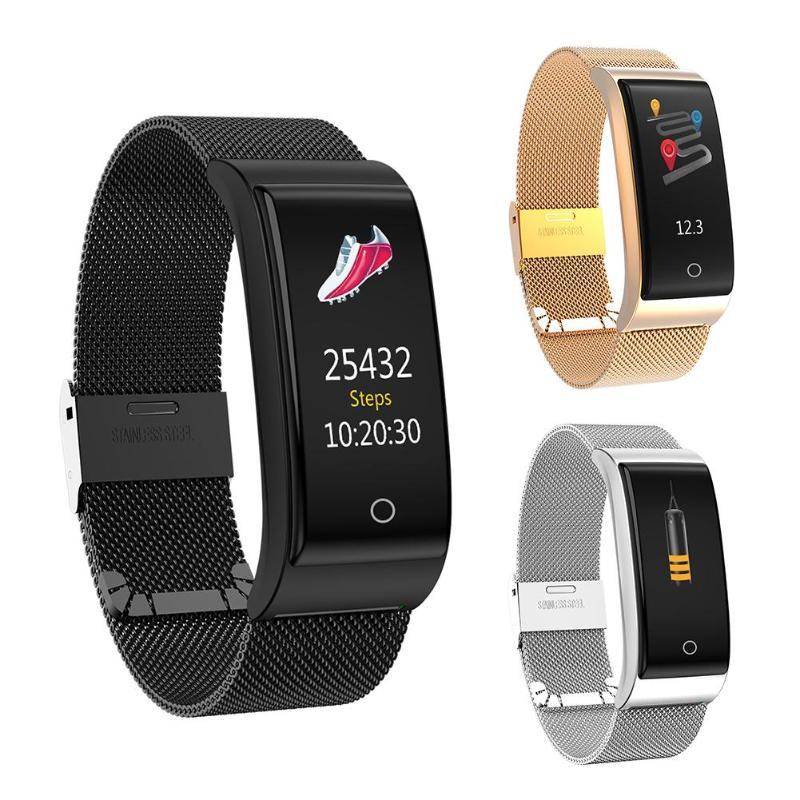 F4 Bluetooth 0.96 pouces écran tension artérielle moniteur de fréquence cardiaque montre intelligente