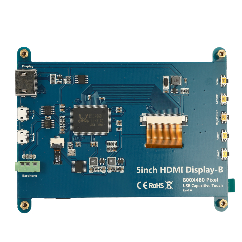 5 pouces LCD Affichage Écran CTP Capacitif Panneau Touchante pour Raspberry Pi BB Noir Banane Pi Affichage-B 800*480 DIY Module Kit