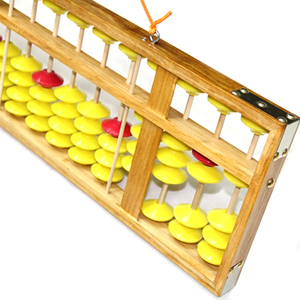 Image 5 - Chinese Abacus 13 Column Wood Hanger Big Size Non Slip Abacus Chinese Soroban Tool In Mathematics Kids Math Education Toy 58Cm