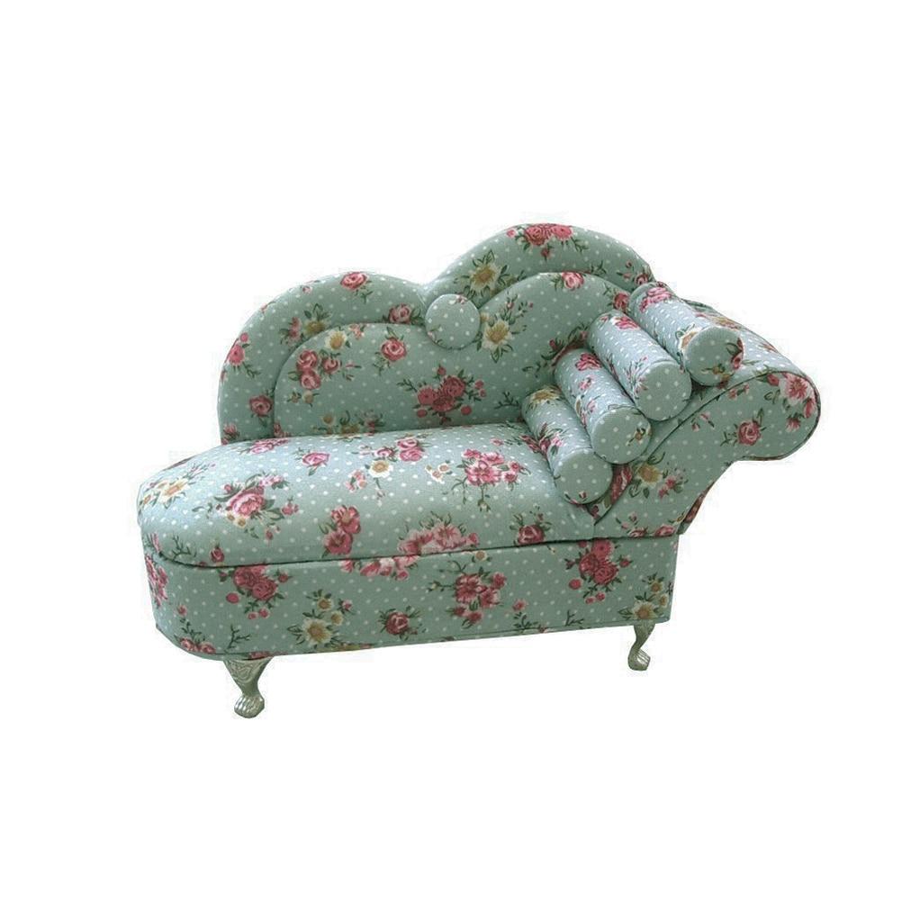 Helder Mini Sofa-vorm Sieraden Showcase Organizer Met Spiegel Binnen (celadon) Factory Direct Selling Prijs