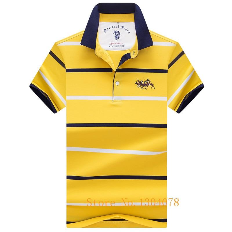 2019 Summer Short Sleeve   Polo   Shirt Men Casual & Business Brand Tace & Shark 3d Embroidery Striped   Polos   Shirts Para Hombre