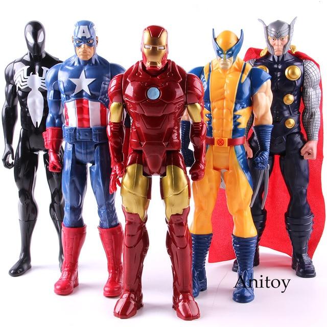 Ultimate Marvel Amazing Spiderman Capitão América Homem De Ferro PVC Action Figure Collectible Modelo Toy para Crianças Brinquedos Para Crianças