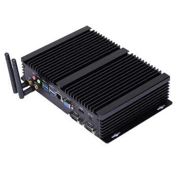 Fanless Industrial PC,Mini Computer,Windows 10,Intel Core I5 4200U,[HUNSN MA04I],(Dual WiFi/VGA/HD/3USB2.0/4USB3.0/LAN/2COM)
