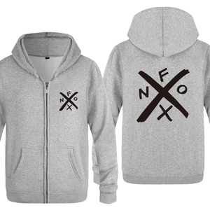 Image 4 - NOFX Music Novelty Sweatshirts Men 2018 Mens Zipper Hooded Fleece Hoodies Cardigans