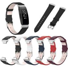 For Fitbit Inspire HR Band Replacement Genuine Leather Wristband Watch Band Strap Bracelet Betl for Fitbit Inspire Band цены
