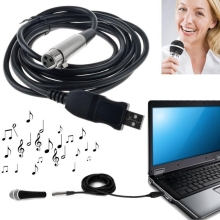 High Quality 3M USB Male to XLR Female Microphone MIC Link Cable Adapter New