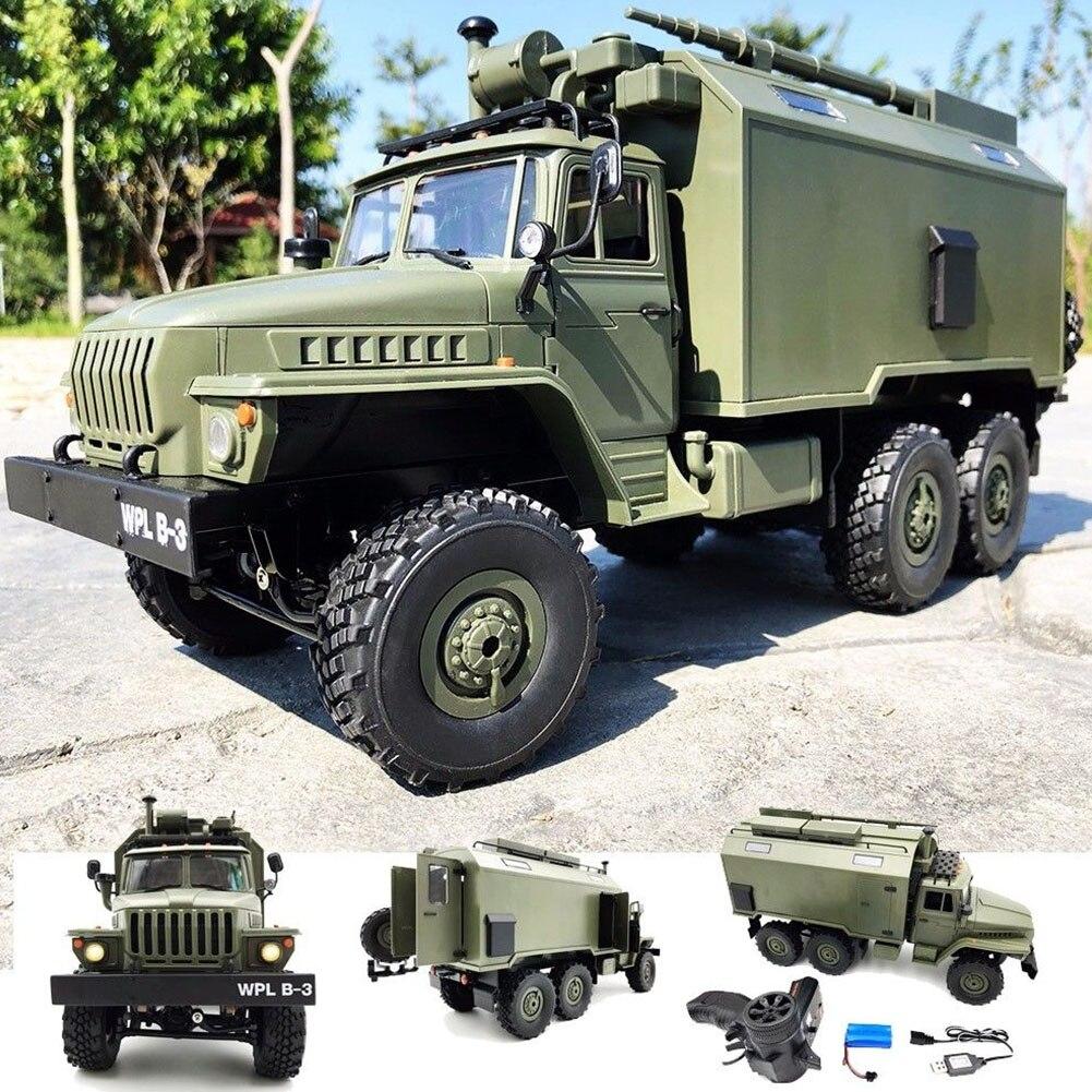 Oyuncaklar ve Hobi Ürünleri'ten RC Arabalar'de WPL B36 Ural 1/16 2.4G 6WD RC araba askeri kamyon kaya paletli komut iletişim aracı RTR oyuncak oto ordu kamy'da  Grup 1