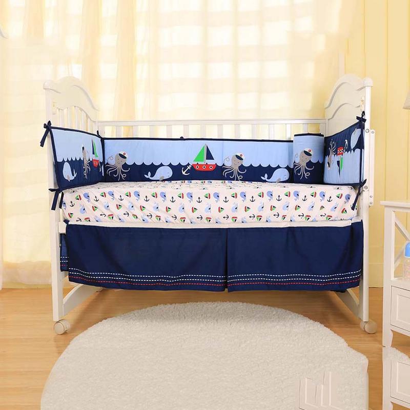 420 CM/165 pouces moins bébé literie quatre pièces enfants confortable pare-chocs Pad drap housse lit propagation