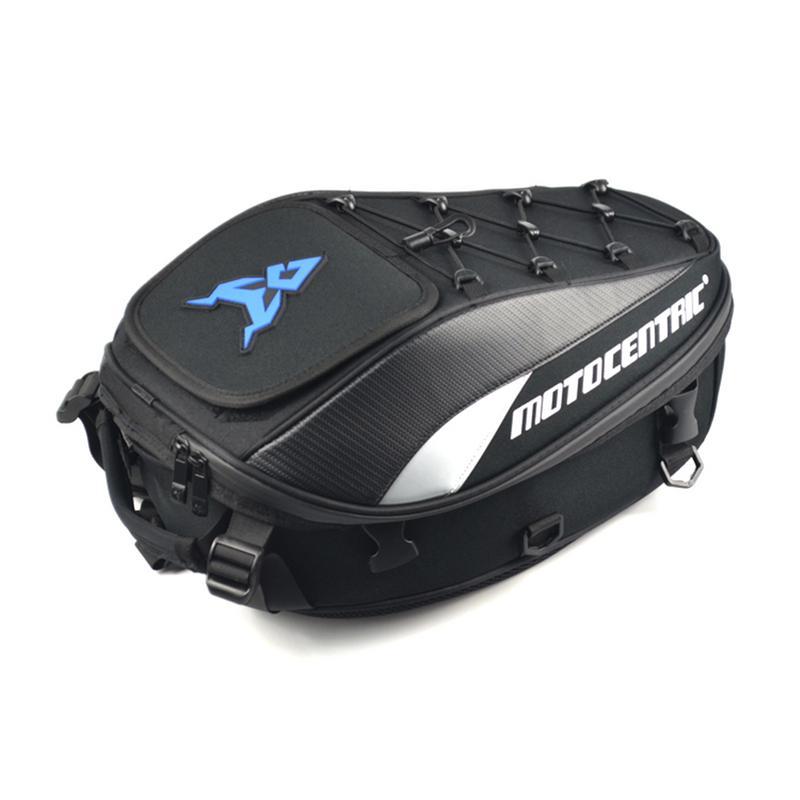 4 Colors Waterproof Durable High Capacity Motorcycle Tail Bag Rear Double Shoulder Motor Seat Bag Motorcycle Trunk Storage Shape