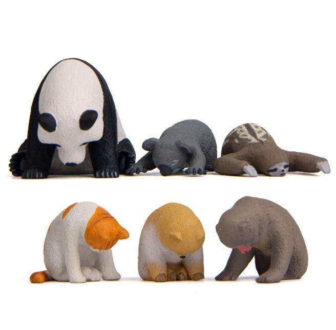 1 Pc Cute Sleeping Zoo Animal Action Figures Cartoon Cat Dog Panda Monkey Koala Otter Model Figure Toys Doll-1