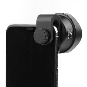 Image 4 - Pholes 75mm móvil Macro lente de la cámara del teléfono lentes Macro para Iphone Xs Max Xr X 8 7 S9 S8 S7 Piexl Clip en 4k Hd lente